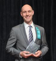 Dan Accepting Chamber of Commerce Award